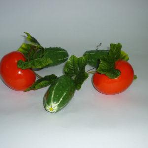 Ветка муляжей ассорти овощи