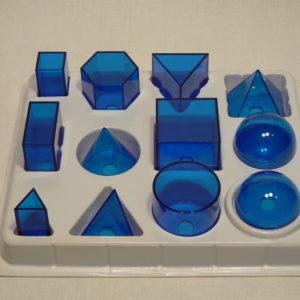 Набор прозрачных геометрических тел (12 предметов)